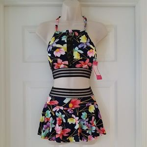 Other - New Floral 2 Piece Skort Swimsuit